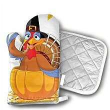 Thanksgiving Türkei in Kürbisofen Handschuhe