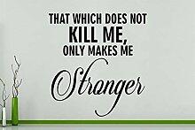 That Which Nicht Kill Me, nur Makes Me Stärker