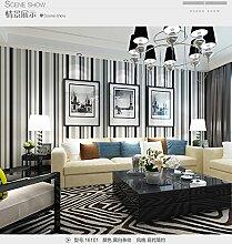 Thatch 3D Vlies-High-End-vertikale Streifen Tapete en Regenbogen breite Streifen Schlafzimmer grüne Wand , 2