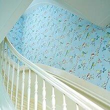 Thatch American pastoral Normalpapier Tapete Vogel, Schmetterling Schlafzimmer TV Esszimmer Hintergrundbilder einstellen , 2
