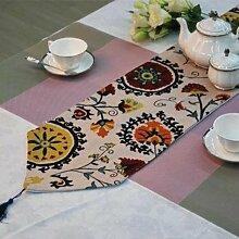 Thatch Baumwolle bekanten Tisch bett Flagge Flagge über der Flagge Sonnenblumen,30×180cm
