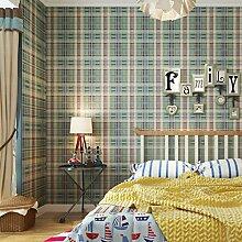 Thatch Britische Plaid Vlies Tapeten amerikanische Dorf Kinder Schlafzimmer/studieren Schottland Tapete , 2
