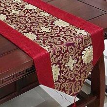 Thatch Chinesische Seide mercers Tabelle Flagge China Wind über die Tischdecke Stoffen lange Tischdecken TV-Schrank Abdeckung,purple,33cm*196cm