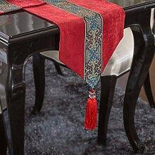 Thatch Continental Esstische Tischset Kit Tabelle flag Couchtisch Tuch TV-schrank Tischdecken Abdeckung,33cm*150cm,red