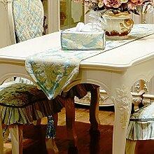 Thatch Continental Tischsets chenille Jacquard-gewebe Tischset Esstisch Couchtisch Flagge Matratze Bett flag TV-schrank Seite Tabellen flag,32*180,blue