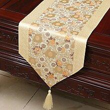 Thatch Einfache Tabellen flag Tücher/Tischdecke bett Schrank Flagge Flagge Tischsets lange Tische continental Stoffen,F,33*150cm