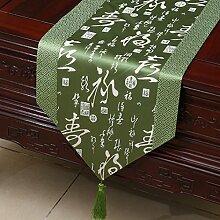 Thatch Einfache Tabellen flag Tücher/Tischdecke bett Schrank Flagge Flagge Tischsets lange Tische continental Stoffen,W,33*230cm