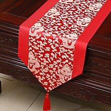 Thatch Einfache Tabellen flag Tücher/Tischdecke bett Schrank Flagge Flagge Tischsets lange Tische continental Stoffen,E,33*200CM