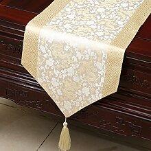 Thatch Einfache Tabellen flag Tücher/Tischdecke bett Schrank Flagge Flagge Tischsets lange Tische continental Stoffen,A,33*230cm