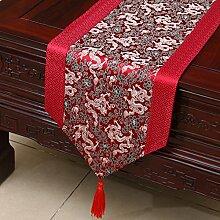 Thatch Einfache Tabellen flag Tücher/Tischdecke bett Schrank Flagge Flagge Tischsets lange Tische continental Stoffen,I,33*200CM