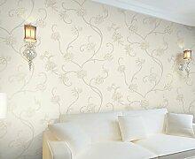 Thatch Einzigartige Stickerei-ähnliche solide moderne minimalistische Zimmer Magnolia Vliesstoff Tapete , light gray , 53*1000