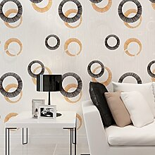 Thatch er Kreis 3D geprägtem Vlies Tapete moderne Schlafzimmer/TV Hintergrund Tapeten , 88113 , 53*1000cm