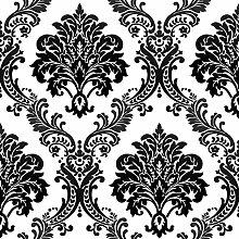 Thatch Festen Schaum kontinentales Damaskus schwarze Vlies Tapete , 1 , 0.53m*10m