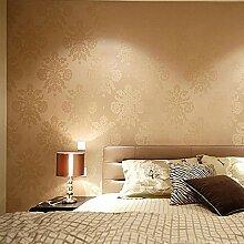 Thatch Geprägten europäischen Stil Schlafzimmer Tapete , meters yellow , 53*1000