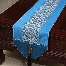 Thatch Jade Pei idyllische Tabelle flag Tücher/Tischdecke bett Schrank Flagge Flagge Tischsets langen Esstisch Stoffe,light blue,33*180cm