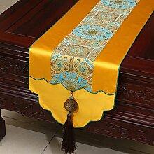 Thatch Jade Pei idyllische Tabelle flag Tücher/Tischdecke bett Schrank Flagge Flagge Tischsets langen Esstisch Stoffe,yellow1,33*230cm