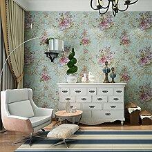 Thatch Klassische amerikanische Blume reinen Retro-Schlafzimmer Sofa TV Hintergrund Tapeten Tapeten Veranda Tapete , flower
