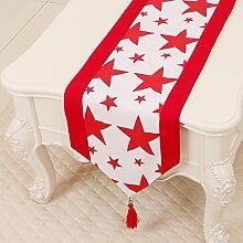 Thatch Minimalistische idyllische Tabelle flag Tücher/Tischdecke bett Schrank Flagge Flagge Tischsets lange Tische canvas Gewebe,J,33*300cm