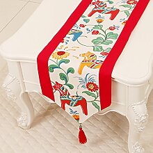 Thatch Minimalistische idyllische Tabelle flag Tücher/Tischdecke bett Schrank Flagge Flagge Tischsets lange Tische canvas Gewebe,G,33*230cm