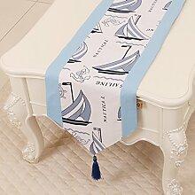 Thatch Minimalistische idyllische Tabelle flag Tücher/Tischdecke bett Schrank Flagge Flagge Tischsets lange Tische canvas Gewebe,C,33*300cm