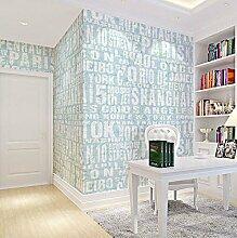Thatch Moderne minimalistische Schlafzimmer antibakterielle Feuer feuchtigkeitsbeständig Tapete , black , 0.53m*10m