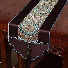 Thatch Neo-klassischen Chinesischen Flagge Kaffee Tischdecken Silk Bed flag TV-Schrank Tisch (33*200cm) Handtuch,b