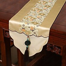 Thatch Neo-klassischen Chinesischen Flagge Kaffee Tischdecken Silk Bed flag TV-Schrank Tisch (33*200cm) Handtuch,e
