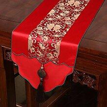 Thatch Neo-klassischen Chinesischen Flagge Kaffee Tischdecken Silk Bed flag TV-Schrank Tisch (33*200cm) Handtuch,d