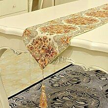 Thatch Palace Luxury Classic Tabelle flag Bereich bett Flagge über dem Boden Handtuch TV-schrank Pad,yellow,28*200