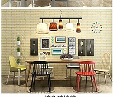 Thatch Schlafzimmer moderne Vlies künstliche Backstein Tapete Hintergrund blauen Flur Flur Eingang Wand Tapete , 2