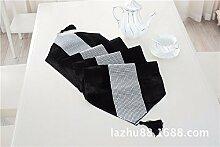 Thatch Tabelle flag Stoffen/TV-Schrank idyllische minimalistischen Tischsets Diamant Boutique Luxus Abdeckung,black,32*180