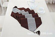 Thatch Tabelle flag Stoffen/TV-Schrank idyllische minimalistischen Tischsets Diamant Boutique Luxus Abdeckung,Brown,32*210