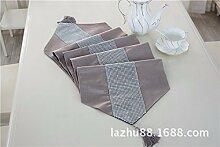 Thatch Tabelle flag Stoffen/TV-Schrank idyllische minimalistischen Tischsets Diamant Boutique Luxus Abdeckung,yellow,32*210