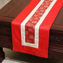Thatch Tabelle flag Tücher/Tischdecke bett Schrank Flagge Flagge Tischsets lange Tische continental Stoffen idyllischen,red,33*300cm