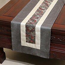 Thatch Tabelle flag Tücher/Tischdecke bett Schrank Flagge Flagge Tischsets lange Tische continental Stoffen idyllischen,gray,33*300cm