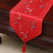 Thatch Tabellen flag Tücher/Tischdecke bett Schrank Flagge Flagge Tischsets lange Tische continental Stoffen,P,33*230cm