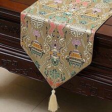 Thatch Tabellen flag Tücher/Tischdecke bett Schrank Flagge Flagge Tischsets lange Tische continental Stoffen,L,33*230cm