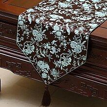 Thatch Tabellen flag Tücher/Tischdecke bett Schrank Flagge Flagge Tischsets lange Tische continental Stoffen,C,33*200CM