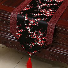 Thatch Tabellen flag Tücher/Tischdecke bett Schrank Flagge Flagge Tischsets lange Tische continental Stoffen,black+red,33*230cm