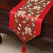 Thatch Tabellen flag Tücher/Tischdecke bett Schrank Flagge Flagge Tischsets lange Tische continental Stoffen,N,33*200CM