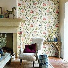 Thatch US-amerikanischer Country Tapeten und frische Gartenblumen Schlafzimmer TV Hintergrund Veranda Vlies-Tapete , light yellow