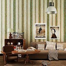 Thatch Vintage American Streifen Tapete retro Schlafzimmer TV Wand Hintergrundstudie in ländlichen Normalpapier Tapete , light yellow