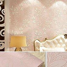 Thatch Warmen idyllische Schlafzimmer Kleidung Shop Projekt home Tapete , pink , 53*1000