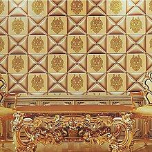 Thatch Weiche Tapete-wie europäisch anmutenden Lederscheide Luxus Hotel Bett 3D-Wände speichern Wallpaper , 5
