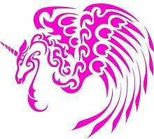 ThatVinylPlace 20 cm Höhe von 17 cm Max Pink Unicorn, Ponny, Pferd, Tatto, Auto Aufkleber, Auto-Aufkleber, Wandaufkleber, Tür, Fenster, Terrasse, Schlafzimmer, Gästezimmer, Küche