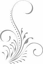 """ThatVinylPlace Grau Blume, Blumen, Blumen, Ornament Vinyl-Aufkleber, Aufkleber Vinyl, Autofenster, Schlafzimmer, Wand (20cm Höhe oder 8 """")"""