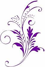 """ThatVinylPlace Lila Blume, Blumen, Blumen, Ornament Vinyl-Aufkleber, Aufkleber Vinyl, Autofenster, Schlafzimmer, Wand (20cm Höhe oder 8 """")"""