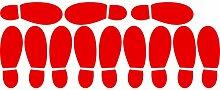 ThatVinylPlace Wandaufkleber/ Wandtattoo, Motiv Herrenschuhabdrücke, Vinyl, Dekoration für Badezimmer/ Kinderzimmer/ Auto/ Fenster/ Wand, 23 x 60 cm, in 18 Farben erhältlich ro