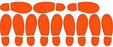 ThatVinylPlace Wandaufkleber/ Wandtattoo, Motiv Herrenschuhabdrücke, Vinyl, Dekoration für Badezimmer/ Kinderzimmer/ Auto/ Fenster/ Wand, 23 x 60 cm, in 18 Farben erhältlich Orange