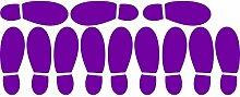 ThatVinylPlace Wandaufkleber/ Wandtattoo, Motiv Herrenschuhabdrücke, Vinyl, Dekoration für Badezimmer/ Kinderzimmer/ Auto/ Fenster/ Wand, 23 x 60 cm, in 18 Farben erhältlich Purpple